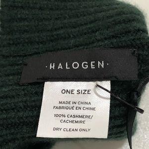 Halogen Accessories - Halogen 100% Cashmere Rib Knit Fingerless Gloves